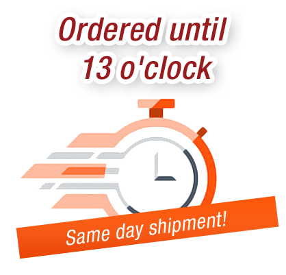 Ordered until 13 o'clock - Same day shipment - fluid24